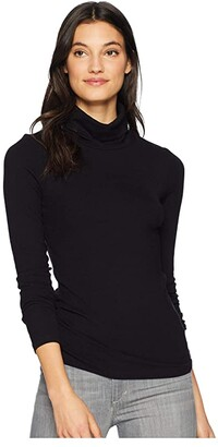 Sanctuary Essentials Turtleneck Top (Black1) Women's Clothing