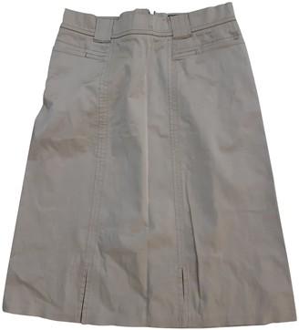Fendi Beige Cotton Skirt for Women Vintage