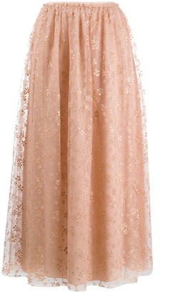 RED Valentino floral tulle maxi skirt