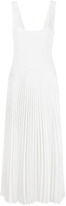 Theory Pleated Square Neck Dress