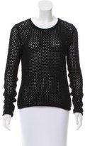 Yigal Azrouel Open Knit Long Sleeve Sweater