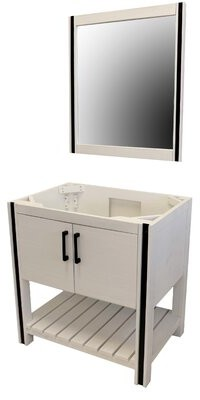 "CraftMark WhiteWater 30"" Single Bathroom Vanity Set with Mirror"