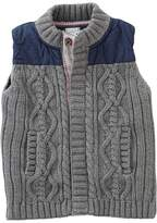 Mud Pie Cable Sweater and Nylon Vest (Infant/Toddler)