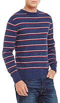 Daniel Cremieux Cotton Cashmere Long-Sleeve Stripe Sweater