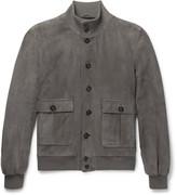 Valstar - Valstarino Slim-fit Washed-suede Bomber Jacket