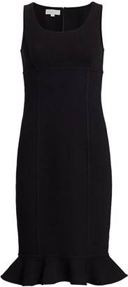 Michael Kors Sleeveless Flounce-Hem Knit Midi Dress