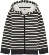 Petit Bateau False fur zip sweatshirt