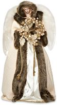 18.5-Inch Angel with Wreath Tree Topper