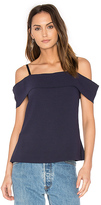 Elizabeth and James Tara Off The Shoulder Top in Navy. - size 2 (also in )