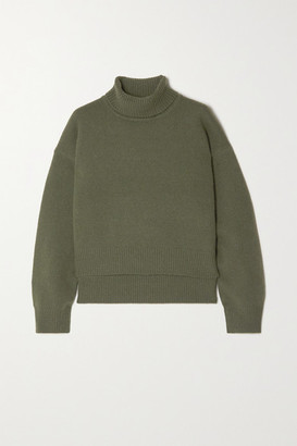 REJINA PYO Net Sustain Lyn Asymmetric Cashmere Turtleneck Sweater - Green