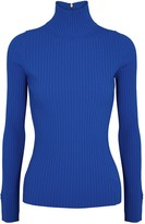 Tory Burch Cobalt blue ribbed-knit top