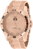 Jivago Ultimate Mens Rose-Tone Stainless Steel Bracelet Watch