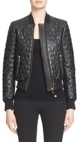Versace Women's Quilted Leather Bomber Jacket