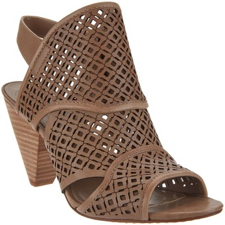 Vince Camuto Nubuck Perforated Heeled Sandals - Ekanya