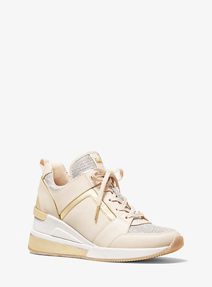 Michael Kors Georgie Mixed-Media Trainer