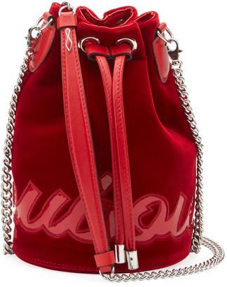 Christian Louboutin Mary Jane Velvet Bucket Bag