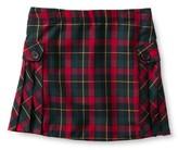Custom Women's Side Pleat Plaid Skort Above Knee