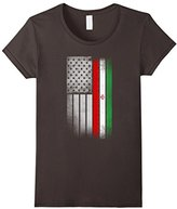 Women's Iranian American Flag - USA Iran Flag T Shirt Medium