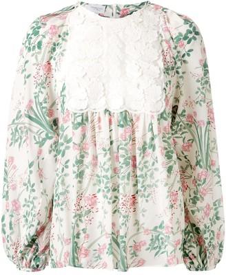 Giambattista Valli Floral Print Tunic Top