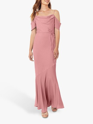 Oasis Amy Slinky Off Shoulder Slinky Maxi Dress