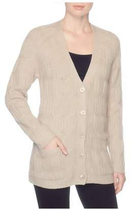 Magaschoni Cashmere / Wool Blend Cable Cardigan