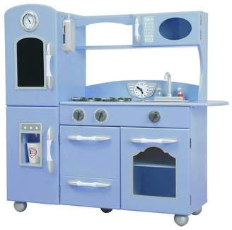 Teamson Kids Wooden Play Kitchen - Blue
