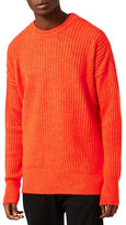Topman Ribbed Drop Shoulder Sweater