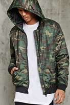 Forever 21 Padded Camo Print Hooded Jacket