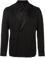 Christian Pellizzari polka dots double-breasted blazer