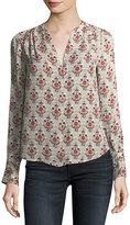 Joie Jamiona Long-Sleeve Printed Silk Blouse