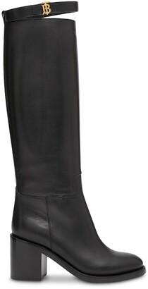 Burberry 70mm monogram knee-high boots