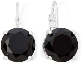 MONET JEWELRY Monet Silver-Tone Black Crystal Drop Earrings