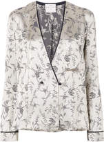 Forte Forte printed satin pyjama-style blazer