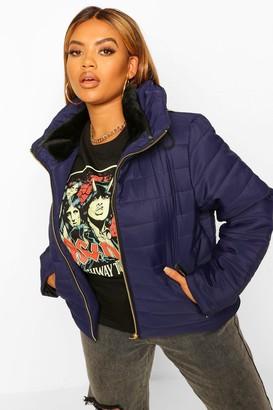 boohoo Plus Short Puffer Coat