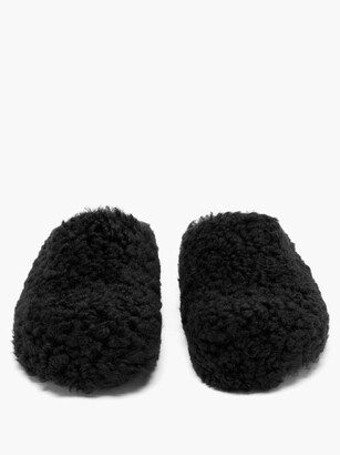 Marni Shearling Mules - Black
