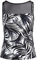 Ralph Lauren Mesh-Yoke Palm-Print Tankini