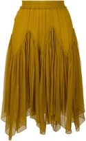Chloé smocked skirt - women - Silk/Polyester - 42