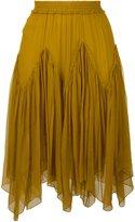 Chloé smocked skirt