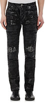 Hood by Air MEN'S COATED EROSION JEANS-BLACK SIZE 32