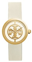 Tory Burch Reva Watch, Ivory Leather/Gold-Tone, 36mm