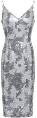 Black Halo Embellished Floral-print Woven Dress