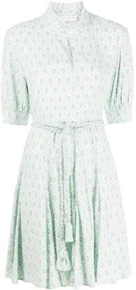 Sandro Paris Paisley Print Mini Dress