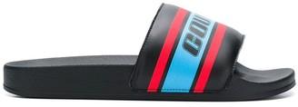 Marcelo Burlon County of Milan Logo Colour-Block Slides