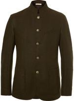 Massimo Alba Slim-fit Unstructured Wool-blend Felt Blazer - Army green