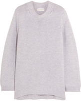 Chinti and Parker Zip-detailed Cashmere Sweater - Light gray