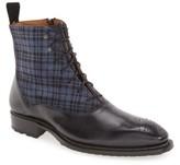 Mezlan Men's 'Grimaldi' Medallion Toe Fabric Shaft Boot