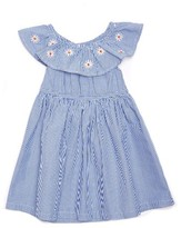 Margherita Infant Girl's Daisy Stripe Dress