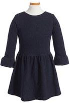 Girl's Peek London Metallic Fit & Flare Dress
