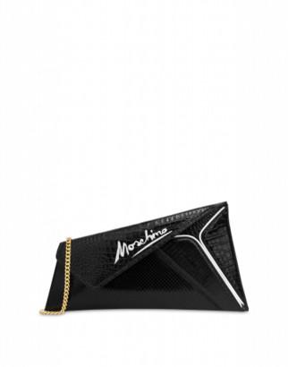 Moschino Slice Maxi Clutch Woman Black Size U It - (one Size Us)
