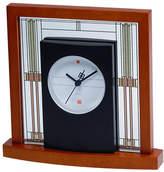 Bulova Willits Glass Panel Table Clock